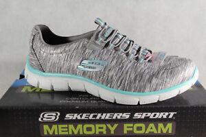 purchase cheap 1d8b9 99625 Details zu Skechers Slipper Sneakers Sportschuhe Air-Cooled Memory Foam  grau NEU!