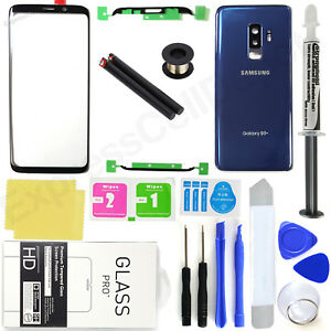 for-Samsung-Galaxy-S9-Plus-G965-OEM-Blue-Front-Screen-Glass-Back-Replacement-Kit