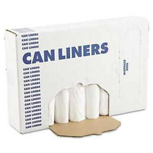 BoardWalk 2432EXH EH-Grade Can Liners, 24 x 32, 16gal, .4mil, White, 25/Roll, 20