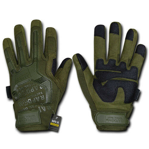 RapDom Military Protection Tactical Touchscreen Conductive Fingertips Gloves