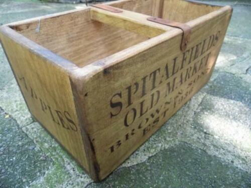 FAB Estilo Vintage mano hecha pequeña Pino Cajón Caja-Manzanas /& Peras-Spitalfields MKT
