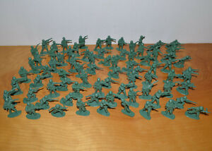 Vintage-GREEN-ARMY-MEN-Toy-Soldiers-Lot-of-80-2-034-Military