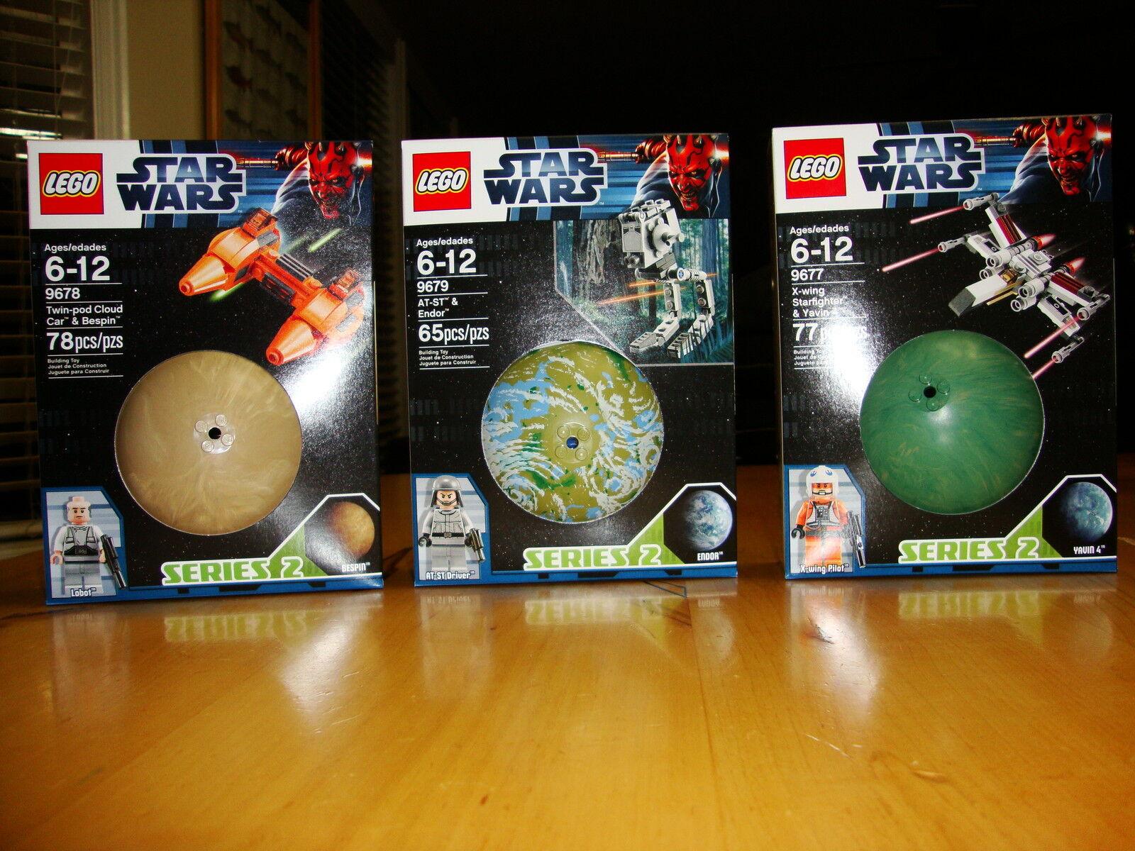 Estrella guerras Lego 9679 , 9677 , 9678 Series 2  set MISB with minicifras  spedizione veloce a te