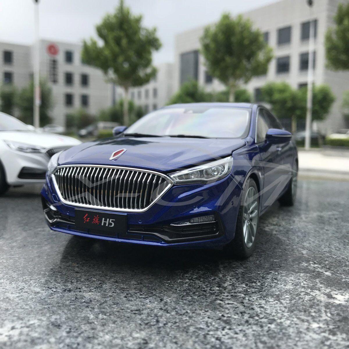 Modello Diecast Auto 1 18 HONGQI H5 (blu) + REGALO