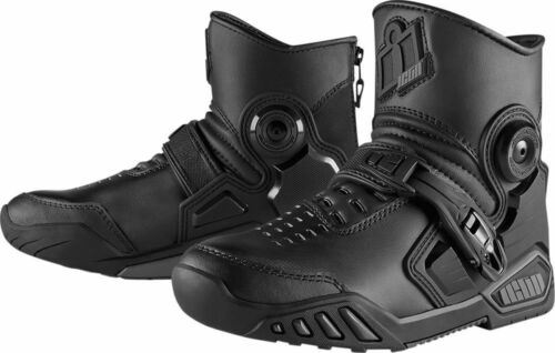 Icon MEN/'S Accelerant Motorcycle Riding Boot//Shoes *9,9.5,10* Black