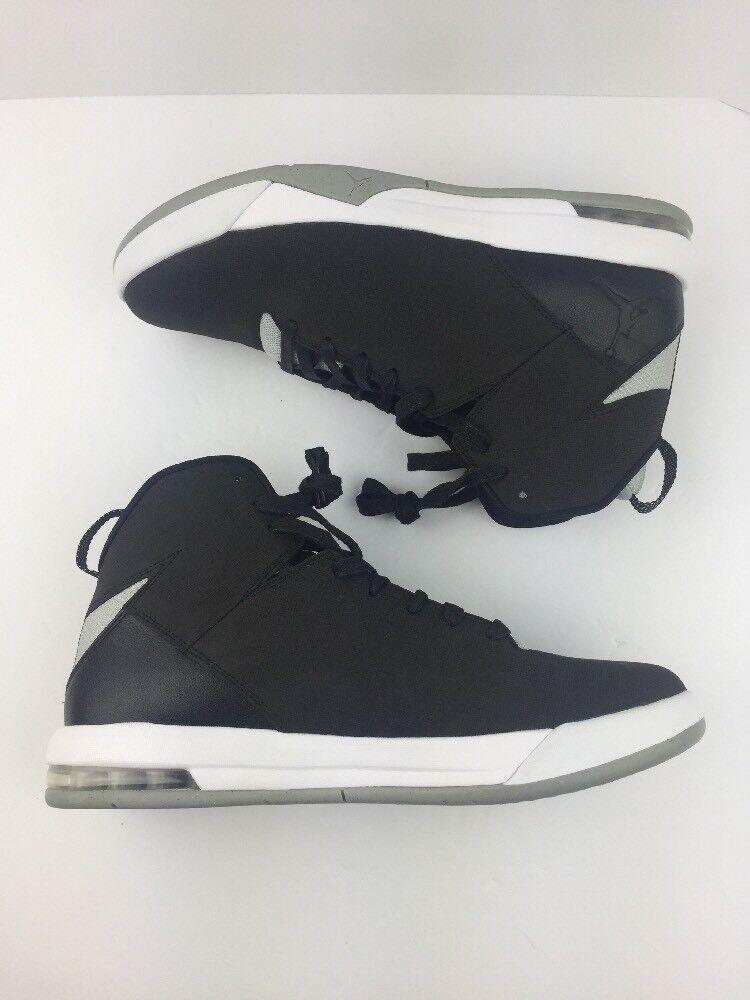 Men's Jordan Air Imminent Off Court shoes, Size 12 Black Grey Mist Wh X10-31-03