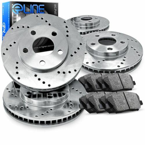 CLK550 Front Rear  Drilled Brake Rotors+Semi-Met Pads For Mercedes-Benz CLK500