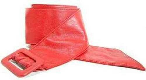 142 RED VERY SOFT LEATHER BELT 4 WOMEN IN SIZES TO FIT MOST /& FREE USA SHIPPING