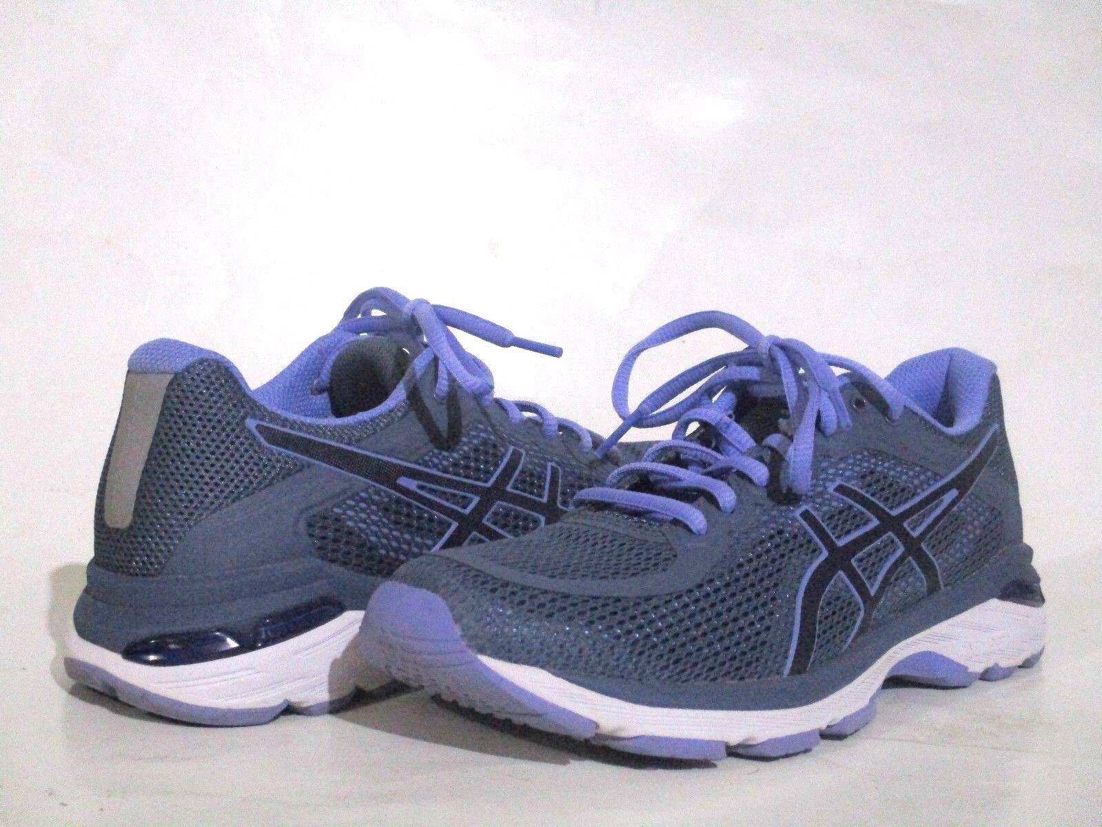 Women's ASICS Gel Pursue 4 Smoke bluee Indigo bluee Lavender Grey SZ 8 T859N EUC