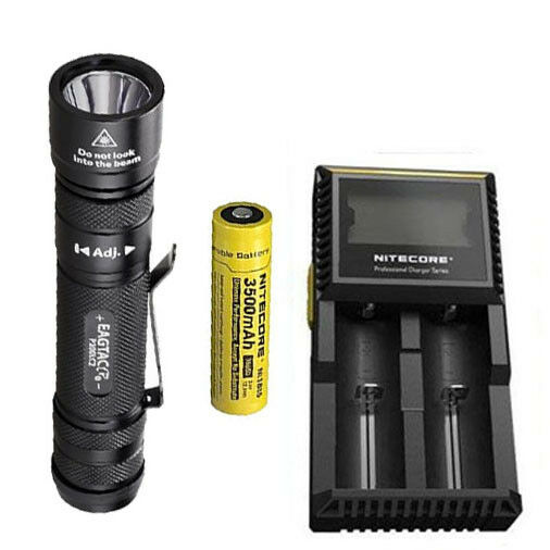 EagleTac P200LC2 P200LC2 P200LC2 1286Lm Flashlight XM-L2 U4 w/NL1835 Battery & D2 Charger 1f9bf7
