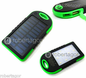 batterie externe powerbank solaire 8800mah 20 led chargeur smartphone tablette ebay. Black Bedroom Furniture Sets. Home Design Ideas
