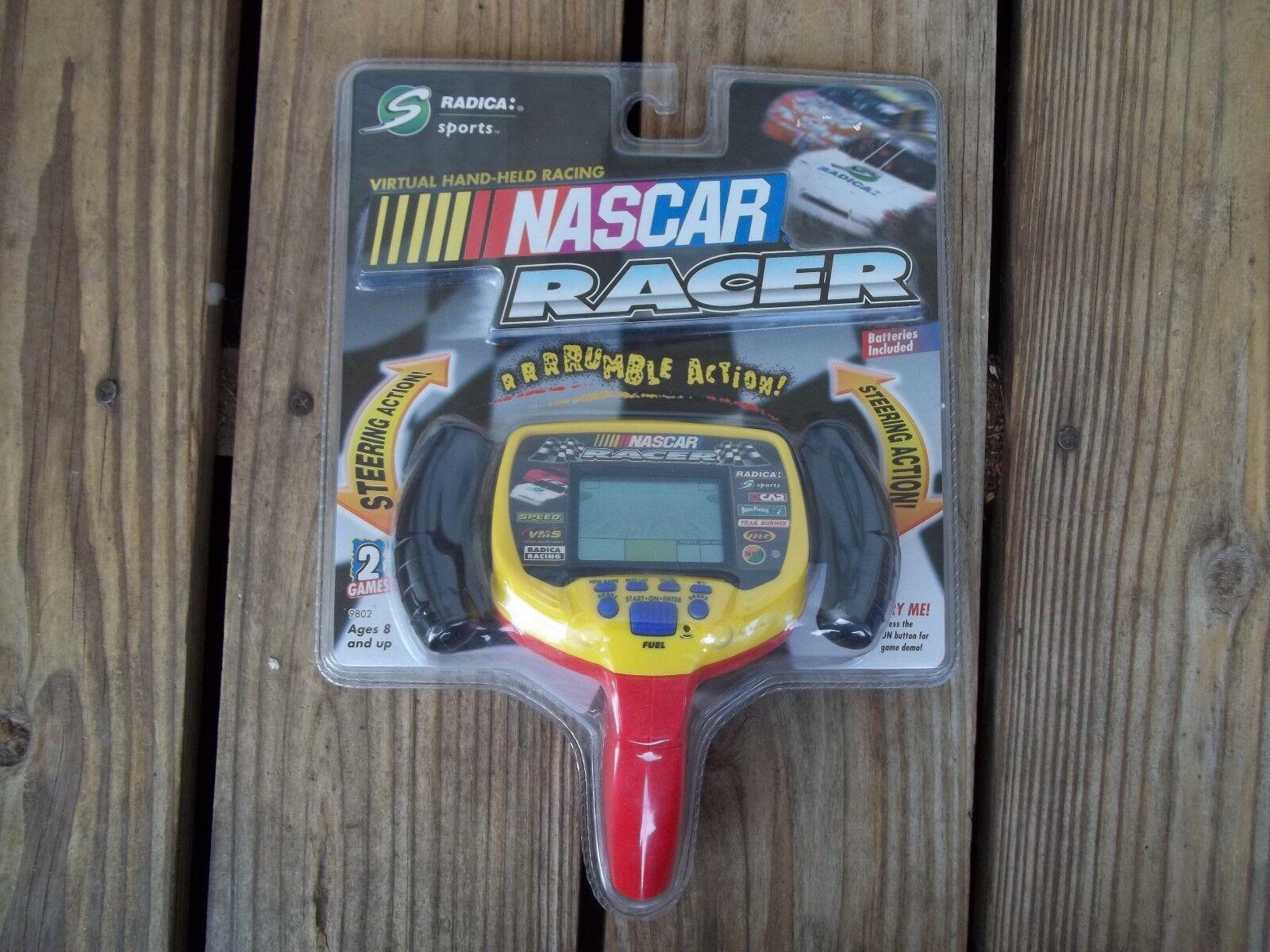 Radica Nascar Racer Handheld Game 98 Virtual Racing NIP Steering Rumble Action
