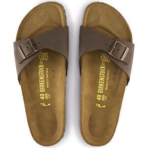 e9138ac9e1f Image is loading Birkenstock-Madrid-Mocha-040093-Birko-Flor-Leather-Sandals-