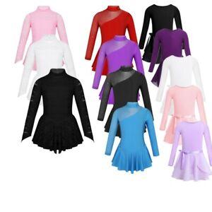 Girls-Figure-Ice-Skating-Dress-Roller-Skating-Ballet-Dance-Leotard-Gymnastics