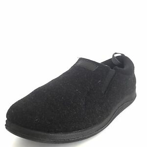 Image is loading Foamtreads-Desmond-Men-039-s-Charcoal-Wool-Slippers-