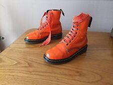 Vintage Dr Martens 1460 orange leather boots UK 4 EU 37 kawaii England skin punk