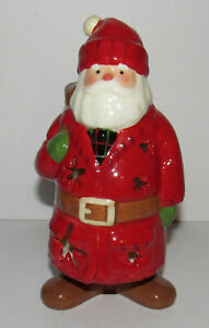 Hallmark-Woodland-Santa-Tea-Light-Votive-Candle-Holder-Christmas