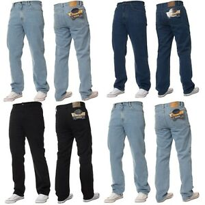 New-Mens-Blue-Circle-Classic-Fit-Straight-Leg-Jeans-Basic-Work-Pants-In-28-60