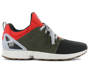 ADIDAS SNEAKERS ZX FLUX AF6354 TESSUTO ROSSO VERDE NERO|SHOP
