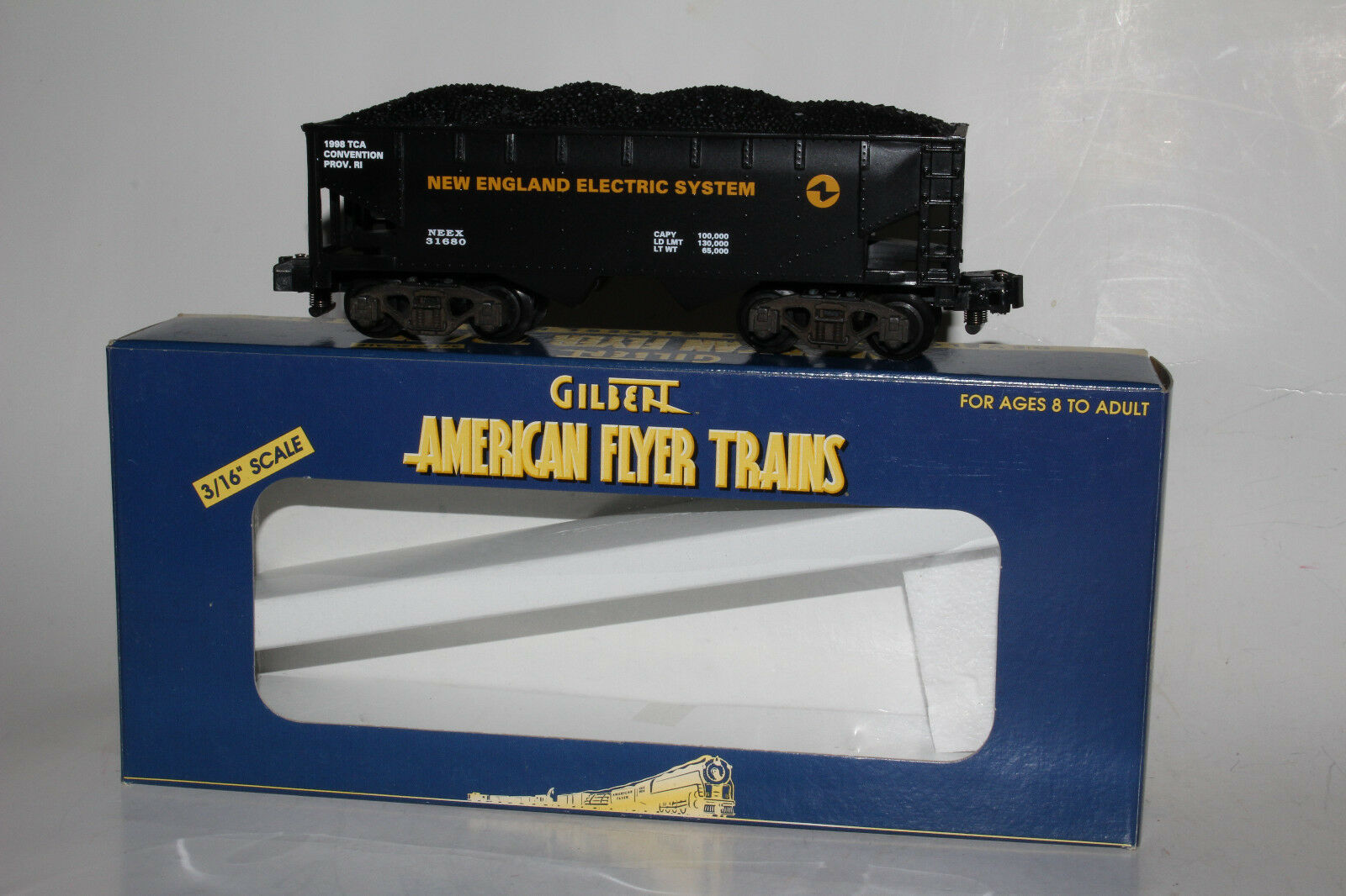 LIONEL GILBERT AMERICAN FLYER TCA NEW ENGLAND ELECTRIC COAL HOPPER