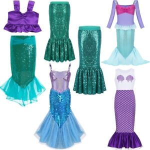 efb9cba8c2011 Image is loading Child-Ariel-Little-Mermaid-Set-Girl-Princess-Dress-