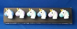 UNICORN BABY HEAD Animal - Set of 6 Handmade Decorative Memo Board Magnets