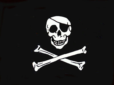 SKULL AND CROSSBONES FLAG 8 x 5 FT CLEARANCE PRICE! BLACK /& WHITE PIRATE PARTY