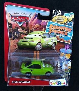 New Disney Pixar CARS Radiator Springs Classic NICK STICKERS ...