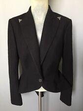 Women's Ralph Lauren Blazer Black Fishtail Size 6 U.K. 8-10 IT03945310963 Wool