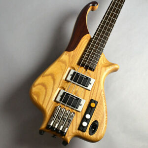 *NEW* ATLANSIA BAROQUE BASS Natural 4 String HH Long Scale W/GB Free Shipping
