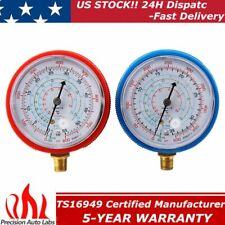 2pcs Refrigerant Low High Pressure Gauge R22 R404a R134a R410a Air Conditioner