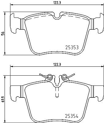 BRAND NEW 5 YEAR WARRANTY GENUINE Mintex Rear Brake Pad Set MDB3711
