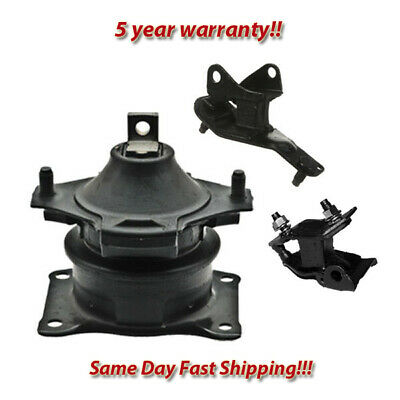 Mount 3PCS For 2003-2007 Honda Accord LX Coupe 2.4L FWD Engine Motor /& Trans