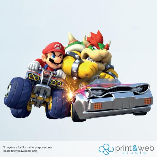 Mario Kart Vinyl Decal Wall Sticker Mario /& Bowser