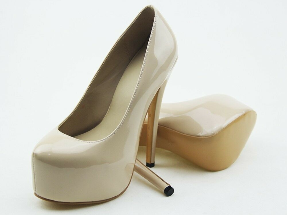 Fashion Women Platform Pumps Round Toe Solid Color Stilettos High Heel Shoes