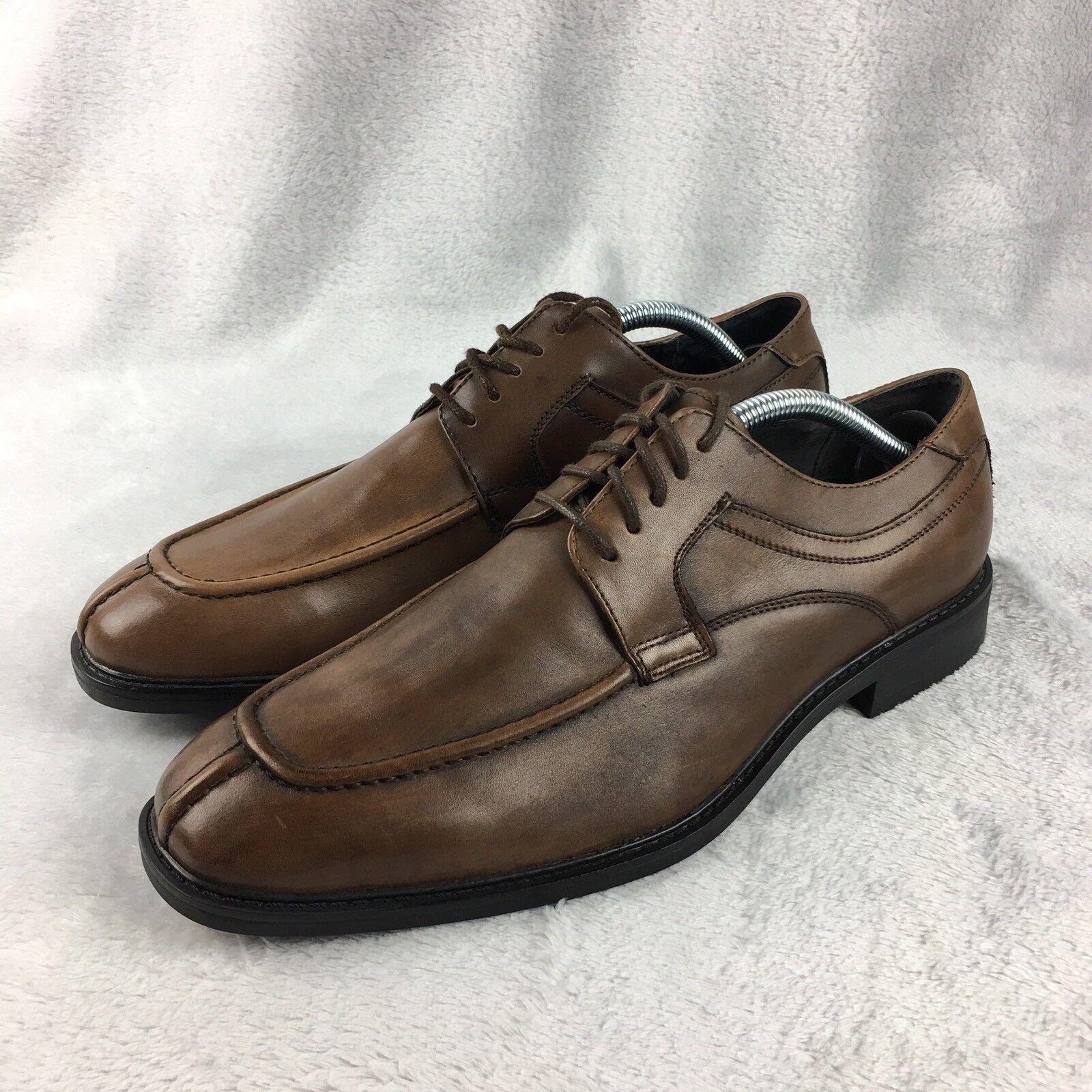 Joseph Abboud Merrick Dress Shoes Cognac Oxford Lace Up Uomo Size 9 Retail  109