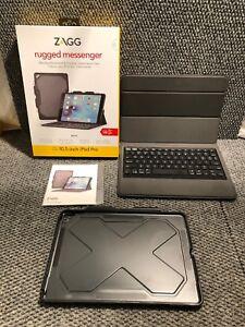 Zagg Rugged Messenger Book Keyboard Folio Case For Apple