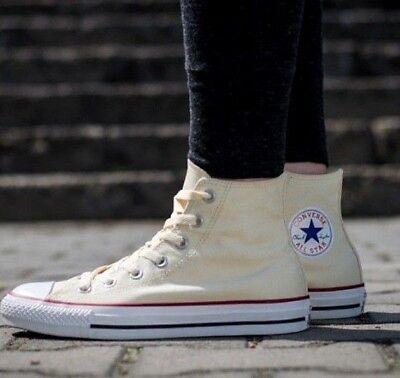 Nouveau Converse All Star Hi Top Chuck Taylor Baskets ECRU/BEIGE TAILLE UK 3.5 EUR 36 | eBay