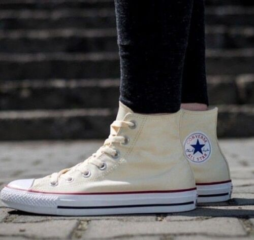 Converse 3 Trainers Top Ecru Star New All 5 36 beige Size Hi Eur Taylor Chuck Uk SxaqR7d