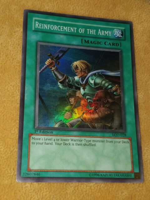 LOD-028 SUPER RARE YUGIOH ROTA Reinforcement Of The Army