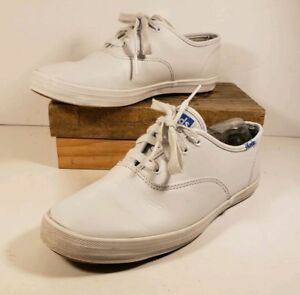 c952453d76bdc Keds White Leather Shoes Youth Size 3 Laces Sneakers Champ CVO