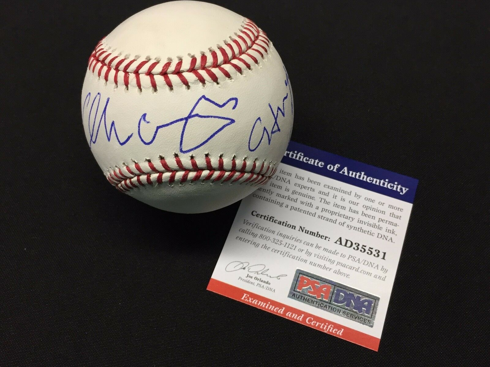 George Lopez Signed Major League Baseball MLB *Comedian PSA AD35531