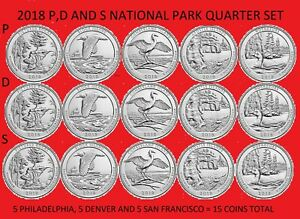 2018 D UNCIRCULATED AMERICA THE BEAUTIFUL 5 COIN QUARTER SET