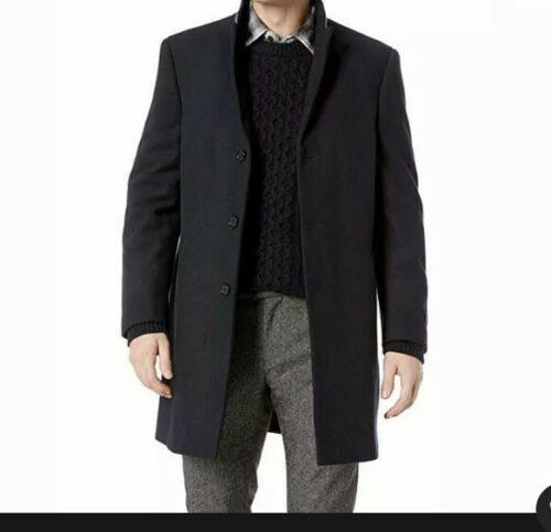 Ike Behar Men's Savoy Wool Coat Business Dress Coa