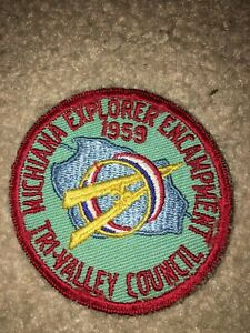 Boy Scout Bsa Tri Valley Indiana 1959 Michiana Council Explorer Uniform Patch Ebay