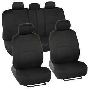 Car Seat Covers for Hyundai Elantra 2 Tone Color Black w/ Split Bench