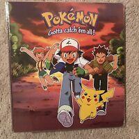 Pokemon 3-ring Card Binder Pikachu Ash...new
