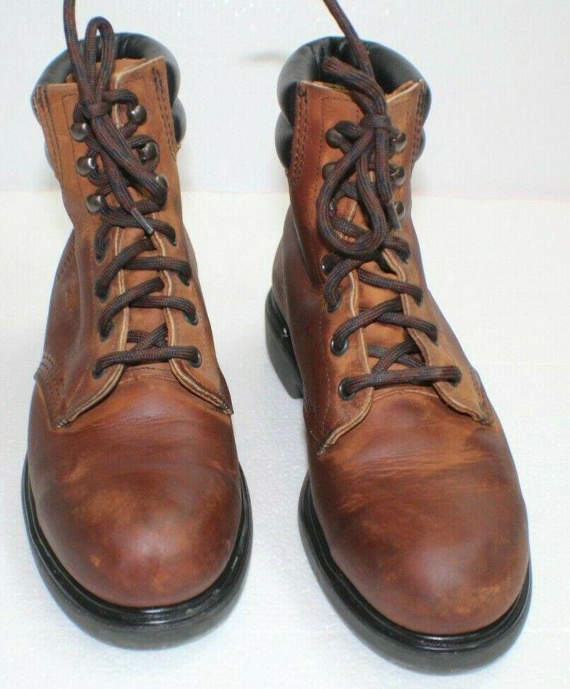 rojo WING Puntera De Acero 6 pulgadas tobillo botas de trabajo, usa Marrón D