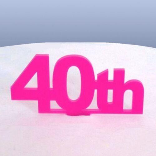 40e Anniversaire Cake Topper-Rose
