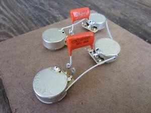details about les paul \u002750s style wiring kit cts 550k custom taper pots, orange drop caps  les paul jr wiring harness kit cts 525k